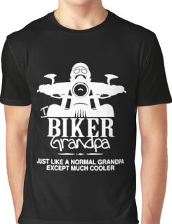 Biker Grandpa Funny Black Men's Tshirt Graphic T-Shirt