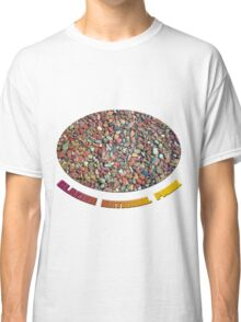 Small clean colorful stones in  the lake of Glacier National Park. Nature photography. Classic T-Shirt