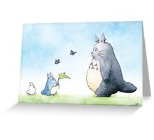 Totoro with Butterflies  Greeting Card