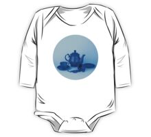 Blue tea party madness still life One Piece - Long Sleeve