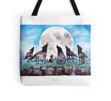 A Cat Raised by Wolves - by Mary Doodles Tote Bag