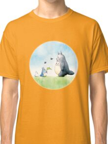 Totoro with butterflies #2 Classic T-Shirt