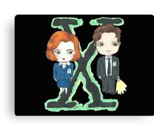 Mulder y Scully Canvas Print
