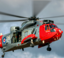 Royal Navy Search and Rescue Sea King Helicopter Sticker