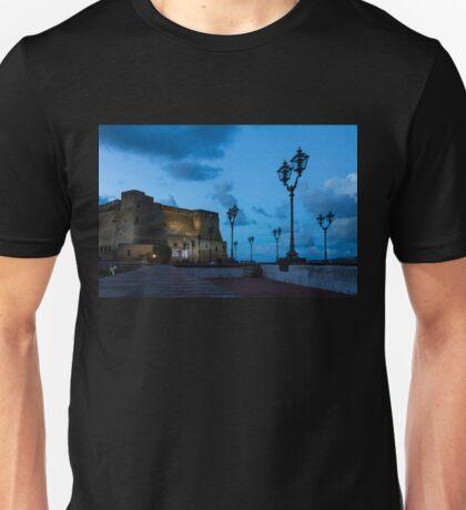 Castel dell Ovo - Blue Hour at Naples Fabulous Seaside Castle Unisex T-Shirt