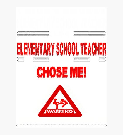 Elementary School Teacher Life Photographic Print