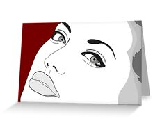 Angelina Jolie Illustration Greeting Card