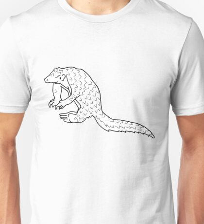 Cute happy pangolin friend Unisex T-Shirt