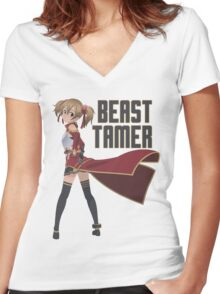 Beast Tamer: Silica Women's Fitted V-Neck T-Shirt