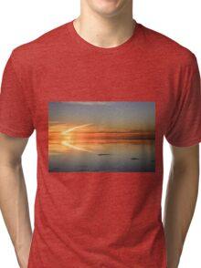 Sunset in flight Tri-blend T-Shirt