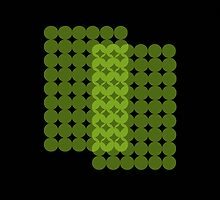 Green Circles Pattern 01 by Keith Miller