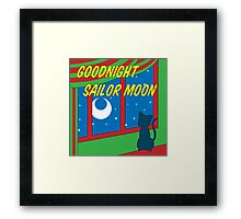 Goodnight Sailor Moon Framed Print