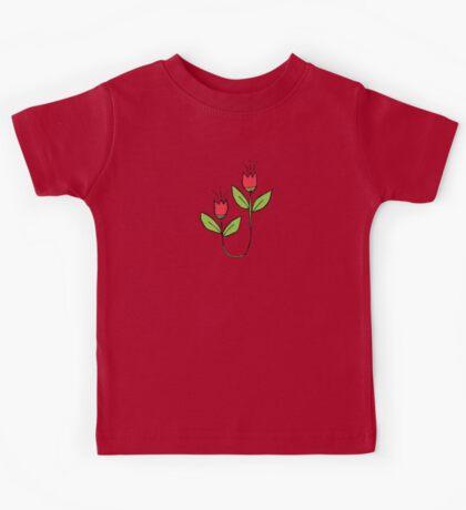 Textured Tulips Kids Tee