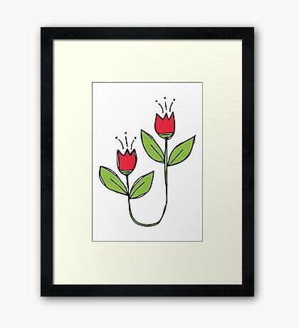 Textured Tulips Framed Print