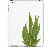 Sansevieria Trifasciata / Snake Plant (white) iPad Case/Skin