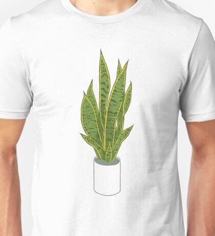 Sansevieria Trifasciata / Snake Plant (white) Unisex T-Shirt