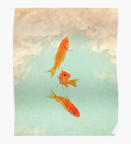 Goldfish in the sky Poster