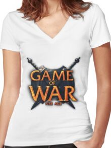 Game of War Women's Fitted V-Neck T-Shirt