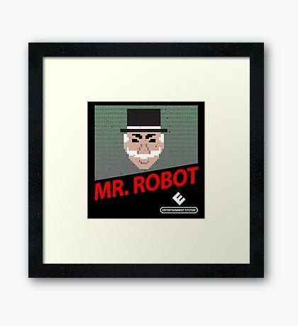 Mr. Robot NES Cover Framed Print