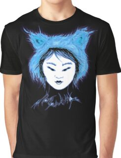 Cat Tee -Not your Kitty- Goth Inuit Blue Graphic T-Shirt