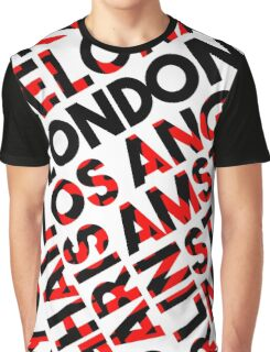 London  - city names text design- black/red Graphic T-Shirt