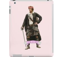 Jamie Fraser Flower Crown iPad Case/Skin