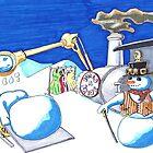 Steampunk Santa by bungalowbb