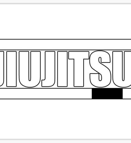 BJJ White Belt Sticker