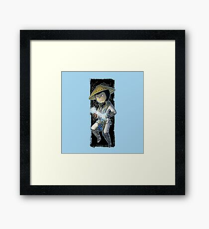 Mortal kombat • Raiden Framed Print