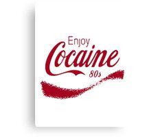Cocaine 80's Canvas Print