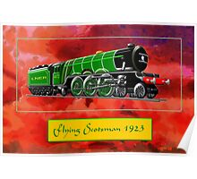 Steam Locomotive - The Flying Scotsman 1923 Poster