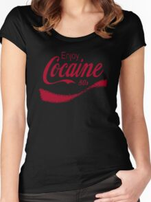 Cocaine 80's Women's Fitted Scoop T-Shirt