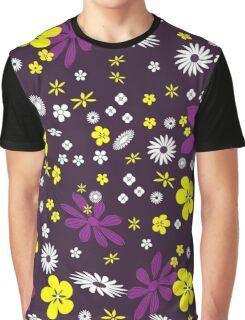 Multi-coloured flowers background Graphic T-Shirt