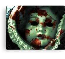 doll room crime scene 1 Canvas Print