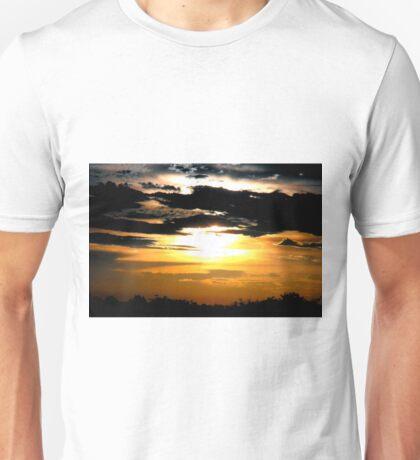 Striking Sunset, Brewing Storm Unisex T-Shirt