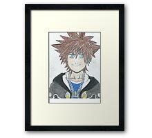 Sora Kingdom Hearts Framed Print