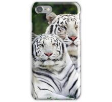 white tigers iPhone Case/Skin
