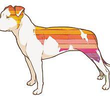 Staffordshire Terrier (rainbow) by lauren elizabeth