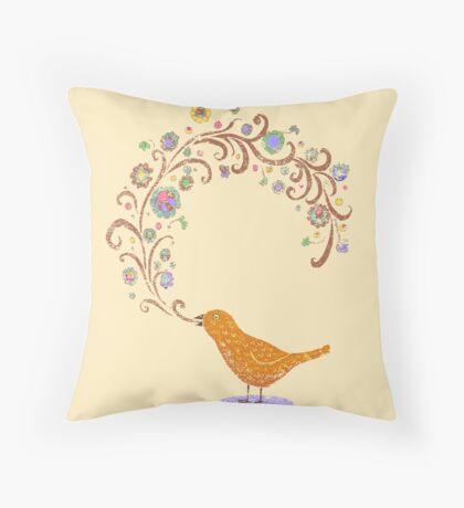 Birdsong Throw Pillow