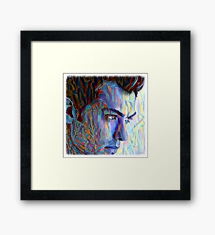 Jude Law blue Framed Print