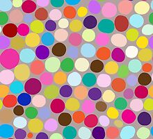 Colorful abstract background with different diameter circles by smotrivnebo