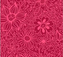 Seamless texture with flowers by smotrivnebo