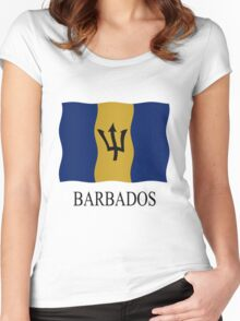 Barbados flag Women's Fitted Scoop T-Shirt