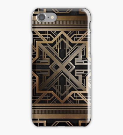 Art deco,gold,black,vintage,chic,elegant,1920 era,The Great Gatsby,modern,trendy,decorative iPhone Case/Skin