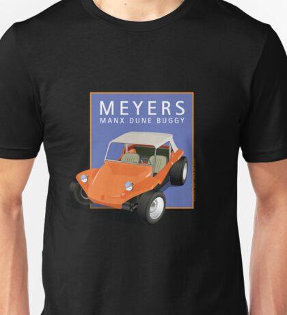 Dune Buggy Manx Orange Blue Box Unisex T-Shirt