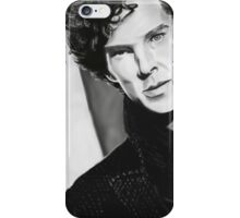 BBC Sherlock (monochrome) iPhone Case/Skin