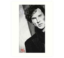 BBC Sherlock (monochrome) Art Print