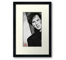 BBC Sherlock (monochrome) Framed Print
