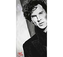 BBC Sherlock (monochrome) Photographic Print