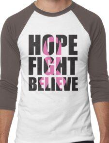 Hope Fight Believe - cancer shirt Men's Baseball ¾ T-Shirt